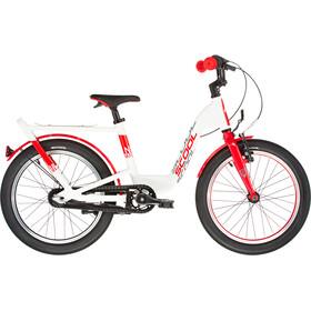 s'cool niXe EVO 18 Dzieci, biały/czerwony